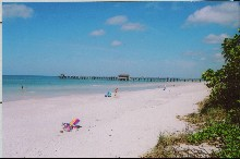 Naples Pier provides the backdrop to beautiful Naples Beach